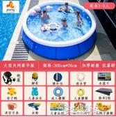 兒童充氣游泳池加厚超大號嬰兒游泳桶戶外摺疊成人小孩家用戲水池 小城驛站