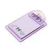 小禮堂 酷洛米 迷你塑膠文件板夾 附便條紙 便條夾 留言板夾 (紫 大臉文具) 4550337-92386