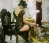 死庫水睡衣蕾絲邊透明內衣黑色誘惑連體衣