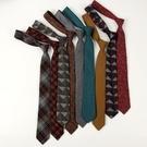 領帶 ifashion羊毛格子復古領帶女男學生學院風原宿風日系英倫風ins潮-快速出貨