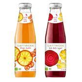 13瓶特惠 智慧有機體 德國有機柳橙櫻桃汁/有機甜菜根薑汁 500ml/瓶