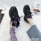 老爹鞋老爹鞋ins潮女鞋子2021年新款秋冬百搭黑色運動休閒秋季女鞋 雲朵走走