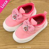 女童 2018年 Licca 莉卡娃娃甜美 可愛套腳水鑽 休閒鞋 帆布鞋 MIT製造 正版授權 59鞋廊