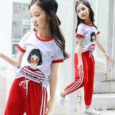 女童短袖夏裝2019新款T恤棉質洋氣中大童兒童半袖時尚韓版潮上衣 FR9520『男人範』