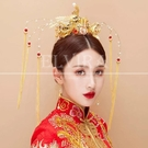 DIYDIY手工飾品配件 三件套奢華鳳冠 中式古風新娘頭飾皇冠材料包禮物-凡屋