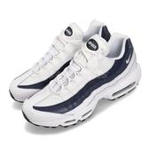 【海外限定】Nike Air Max 95 Essential 白 深藍 男鞋 復古 慢跑鞋 運動鞋【PUMP306】 749766-114