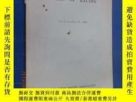 二手書博民逛書店英文罕見RULES OF RACING 共74頁Y15969