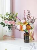 北歐絹花假花擺件仿真塑料花向日葵尤加利花藝裝飾【極簡生活】