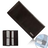 Calvin Klein荔枝紋皮革RFID防盜長夾禮盒(咖啡色/送帕巾)103025-1