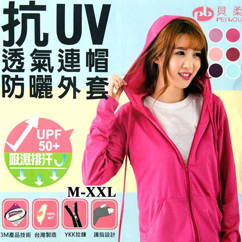 防曬外套 3M抗UV 吸濕排汗防曬外套 素面連帽款 護指設計 台灣製 PB 貝柔