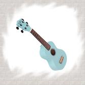 【非凡樂器】繽紛亮面彩色烏克麗麗 粉藍 / 加贈琴袋 Pick 指法表/調音器