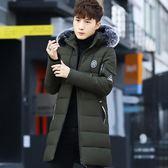 男裝冬季新款棉衣男加厚韓版潮流羽絨棉服中長款 萬客居