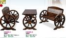 [ 家事達 ]DF- B295-1/2  車輪實木 -桌椅組-(1桌2椅) 特價 已組裝 限送中部