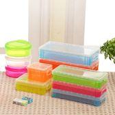 文具長方形透明文具收納盒約22x10x4 5cm 收納用品糖果色鉛筆盒收納盒置物盒【PMG220 】123ok