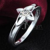 925純銀戒指鑲鑽-花朵設計生日聖誕節禮物女配件73at76[巴黎精品]