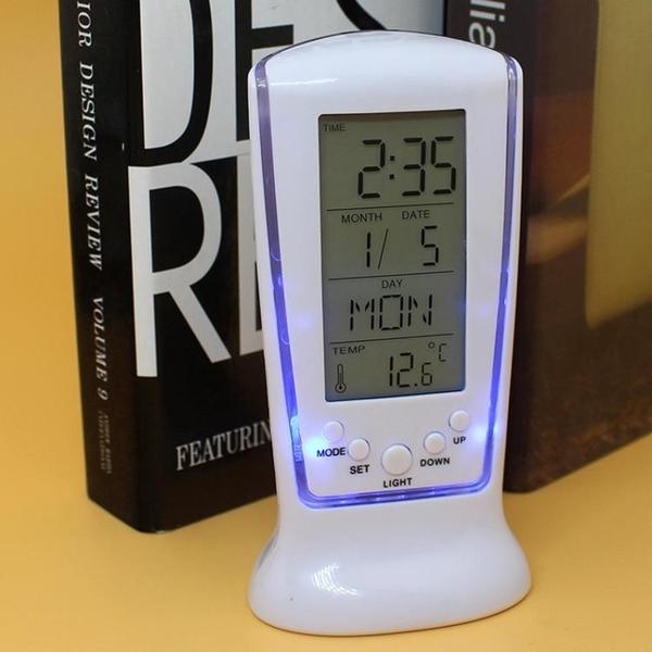 LED鬧鐘長形計時鬧鐘日期溫度星期電子鬧鐘創意靜音背光鬧鐘Mandyc