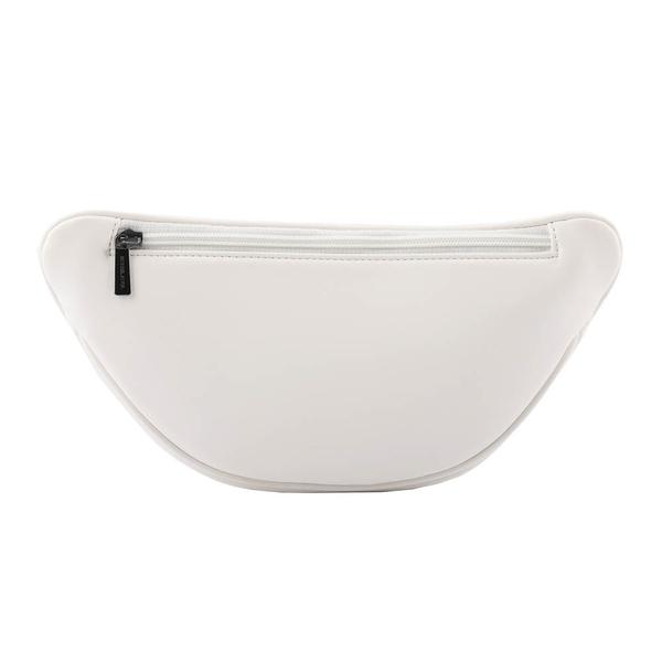 【MICHAEL KORS】Peyton 素面皮革斜縫線設計鏈帶斜背/腰包(大)(白色) 35T0UP6C7U OPWHI