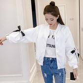 夹克外套 短外套女2018秋裝韓版短款長袖夾克開衫上衣寬鬆休閒學生棒球服潮