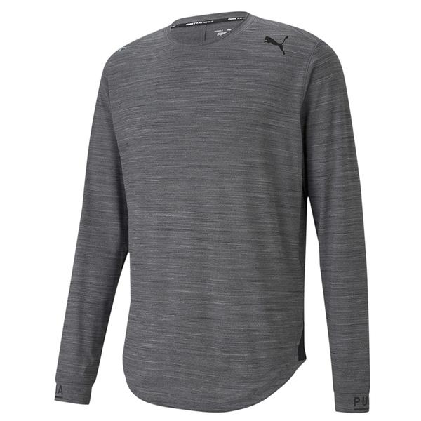 Puma 灰色 男 長袖 運動上衣 慢跑系列 長薄T 排汗 透氣 運動 上衣 跑步 薄長袖 52057707