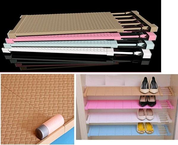 衣櫃收納分層隔板伸縮分隔層架(兩款/四個尺寸選擇)