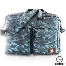 【禾雅】LIUKOO戰地叢林迷彩系列 -多功能造型質感防潑水三用公事包-【沉穩藍】
