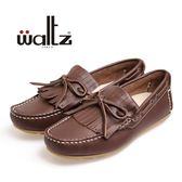 Waltz-「可水洗」MIT 超柔軟流蘇休閒鞋 56009-03(深咖)