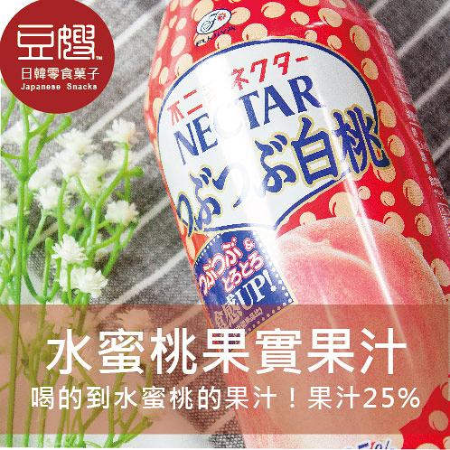 【豆嫂】日本飲料 不二家水蜜桃果肉汁(380ml)