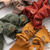 襪子女可愛日系花邊中筒襪秋冬純棉長筒堆堆襪長襪【公主日記】