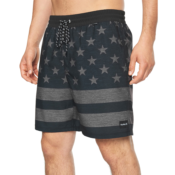 Hurley M PATRIOT VOLLEY 18 BLACK 海灘褲-(黑)