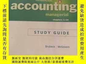 二手書博民逛書店study罕見guide for financial and managerial accounting Chap