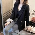 西裝外套 秋冬裝2020新款韓版溫柔風西裝外套女西服上衣薄款黑色網紅小西裝 618購物節