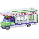 〔小禮堂〕迪士尼 玩具總動員 巴斯光年 TOMICA小汽車連結運輸車《白紫》玩具車 4904810-13472