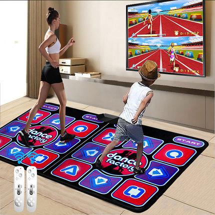 跳舞毯 新品跑步毯双人3D体感按摩跳舞毯电视电脑两用家用手舞足蹈游戏机 萬客居
