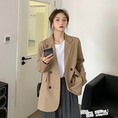 西裝外套女韓版寬鬆2021新款春秋季網紅設計感小個子職業西服上衣 夏季新品