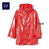 Gap女裝 光面個性純色連帽長袖外套 261655-朱紅色