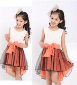 女童禮服夏裝新款韓版連身裙童裝背心兒童公主裙中大童紗裙子HT754