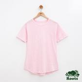 女裝-Roots 竹節棉短袖T恤 - 粉色