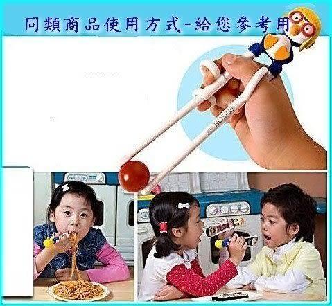 asdfkitty可愛家☆米妮寶寶版右手用三點式兒童學習筷-前端加大好夾取-韓國製