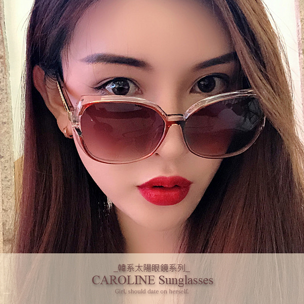 《Caroline》年度最新網紅款潮流百搭抗UV時尚太陽眼鏡 72120