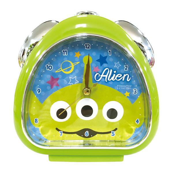 T'S FACTORY 三角飯糰造型鬧鐘 附夜燈功能 桌鐘 時鐘 迪士尼 三眼怪 大臉 綠_CY09987