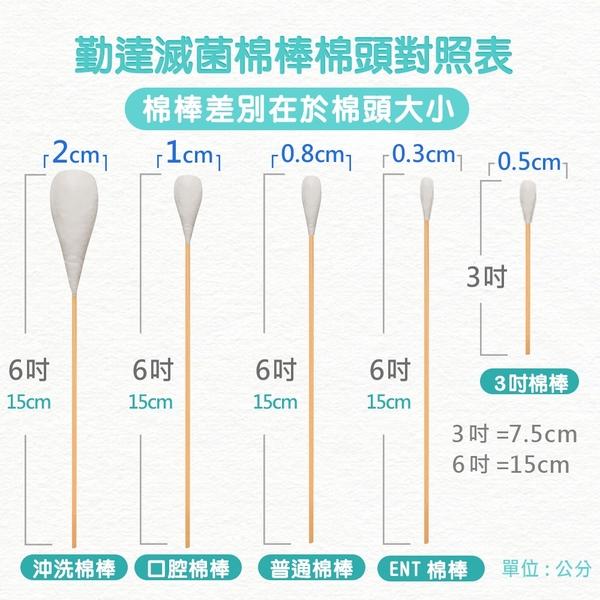 【勤達】滅菌口腔棉棒 10支裝x100包/件-B77M 醫療棉棒、傷口清洗.上藥護理、棉花棒