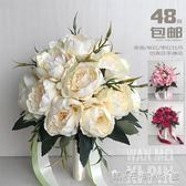 新娘伴娘花童韓式仿真手捧花 新娘結婚手捧花 婚禮攝影道具 晴天時尚館