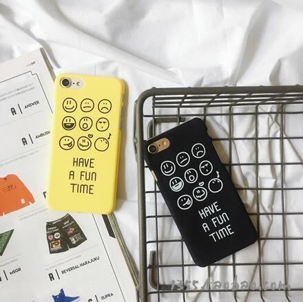 【SZ14】iPhone7/8 plus手機殼 磨砂硬殼表情集合 iPhone 7/8 6plus iphone 6s 手機殼