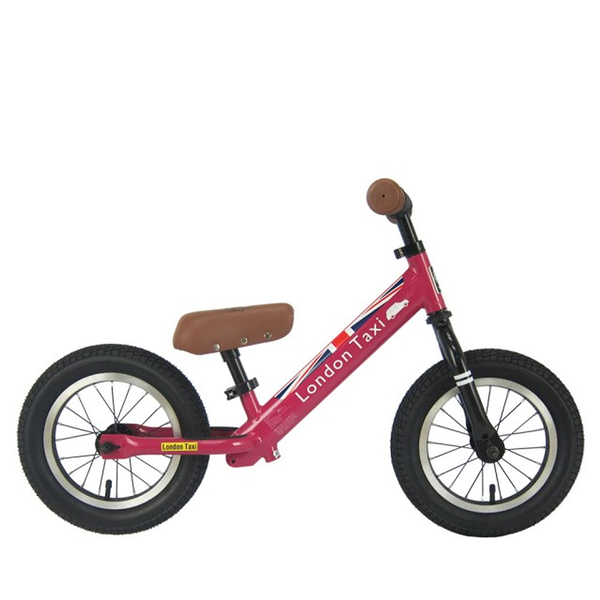 BabyPark 英國London Taxi 充氣胎平衡滑步車 粉色 平衡車 Kick bike