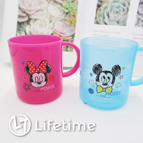 ﹝迪士尼塑膠水杯240ml﹞正版塑膠杯子 兒童水杯 漱口杯 米奇 米妮〖LifeTime一生流行館〗〗
