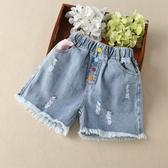 短褲 女童夏季牛仔短褲2020新款洋氣外穿超短褲小女孩夏裝打底褲5-14歲