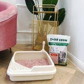 角落貓砂盆貓咪貓廁開放式方便清理貓通用