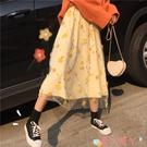 網紗裙 春裝小裙子女2021年新款春款長款長裙網紗春季仙女裙a字裙半身裙 愛丫 免運