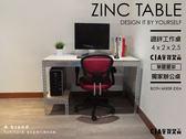 電腦桌 工作桌 辦公桌 ♞空間特工♞ 長4尺x深2x高2.5 單邊層架 一般板 鍍鋅 免螺絲 角鋼 D款
