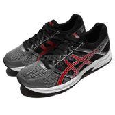 Asics 慢跑鞋 Gel-Contend 4 黑 銀 紅 男鞋 運動鞋 透氣鞋面 【PUMP306】 T715N9723
